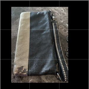💚Black and Silver Sequin bag with strap